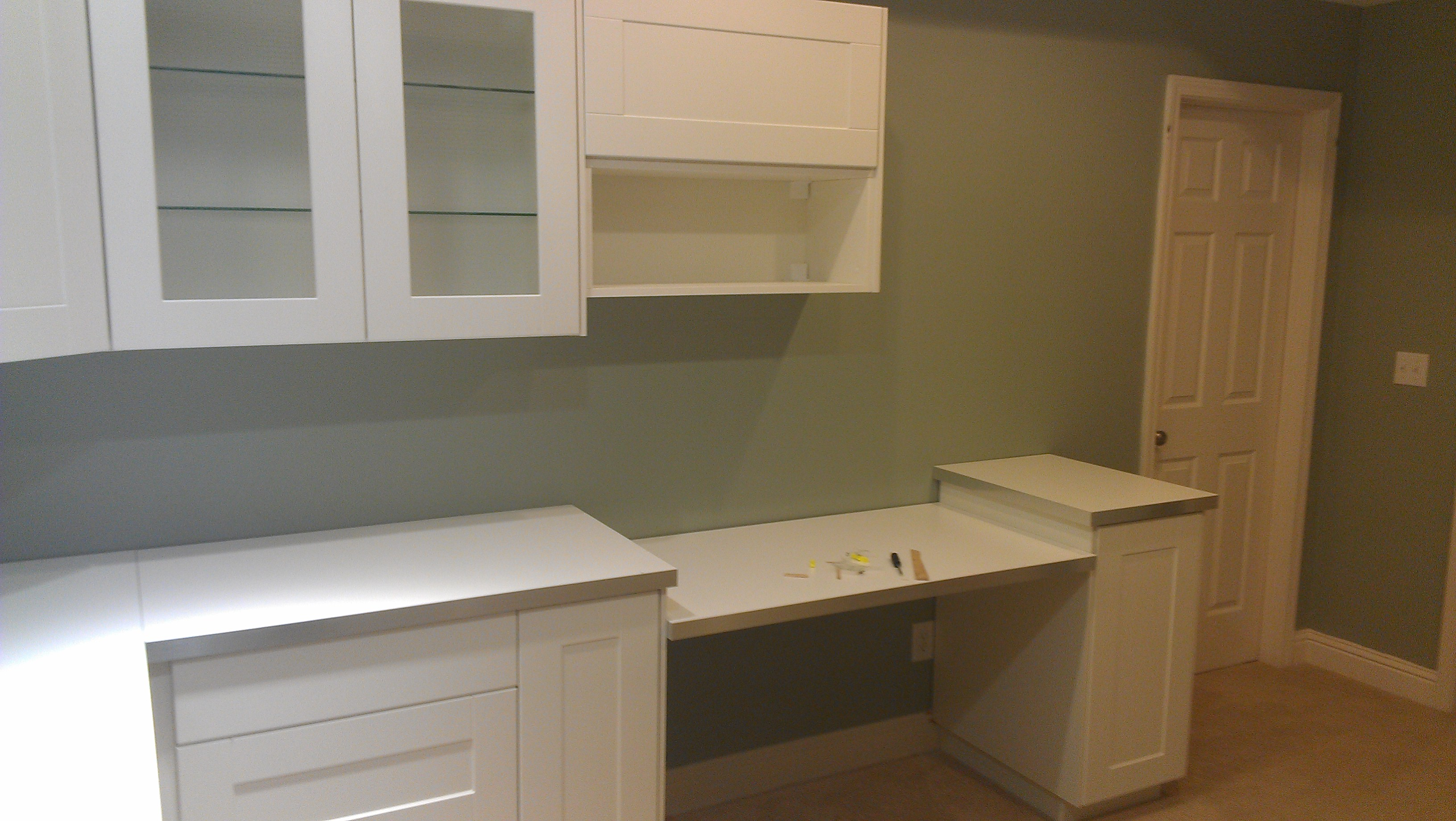 Ikea Wood Countertop White Laundry Room Floor Cabinets